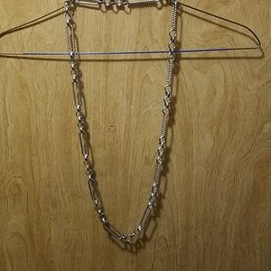 Long Silver Link Necklace